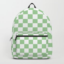 Mint Checkerboard Pattern Backpack