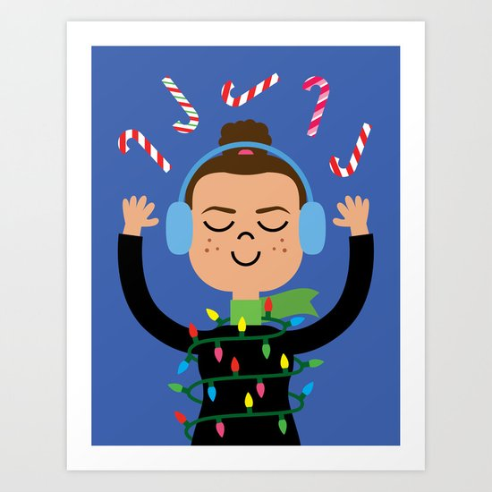 Holiday with Candy Art Print