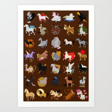 Animated horse Art Print