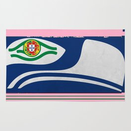 Portuguese Seahawks Hot Pink Rug