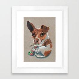 Rex Puppy Dog Art Framed Art Print