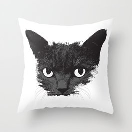 Black Cat Face Graphic Design Cat Lovers Gift Halloween product Throw Pillow