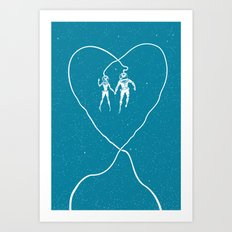 Love Space, Blue Art Print