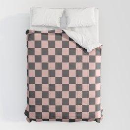 Gingham Millennial Pink Blush Rose Quartz Coco Brown Neapolitan Checked Comforters