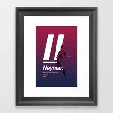 Neymar Barcelona Framed Art Print