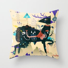 Lost piece Throw Pillow