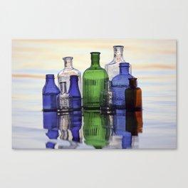 Beach Bottles Canvas Print