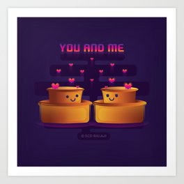 You and Me Art Print