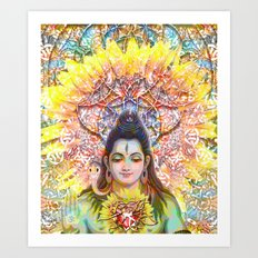 Sunflower Shiva Art Print