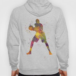 Basketball player 03 in watercolor Hoody