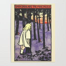"""Dark Dark Are the Pine Trees-19th Century Emmeline Richardson from """"Songs from Near and Far Away""""  Poster"""