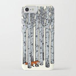 Fox in the Birches iPhone Case
