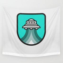 Alien Spacecraft Wall Tapestry