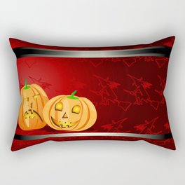 Pumpkins and spooky witches Rectangular Pillow