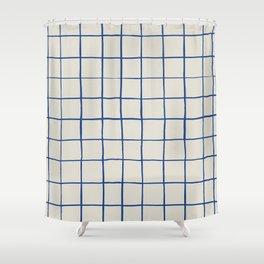BASIC | CRISS CROSS BLUE Shower Curtain