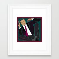 suit Framed Art Prints featuring suit by Feje