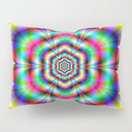 Psychedelic Hexagon Rings Pillow Sham