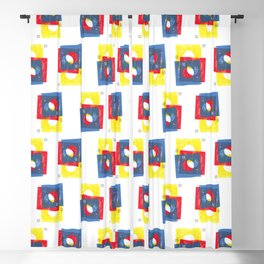 Basic in red, yellow and blue Blackout Curtain