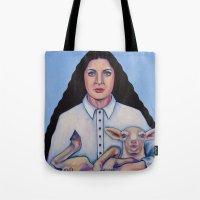 marina Tote Bags featuring Marina by Kristina Gufo