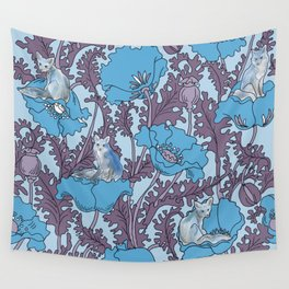Fox among the flowers #1 Wall Tapestry