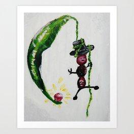 Green Bean Art Print