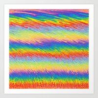 Bleeding Colors  Art Print