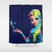 elsa Shower Curtains featuring Elsa by lauramaahs