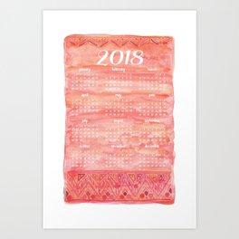 Bohem Watercolor 2018 Calendar Art Print