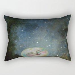 Always Kiss the Moon Goodnight  Rectangular Pillow