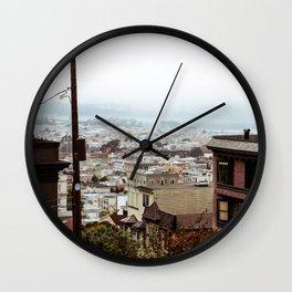 San Francisco Sunday Haze Wall Clock