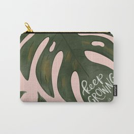 Keep Growing Monstera Carry-All Pouch