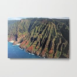 Napili coast from the air Metal Print