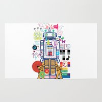 coldplay Area & Throw Rugs featuring we live in a beautiful world by Giulia De grazi
