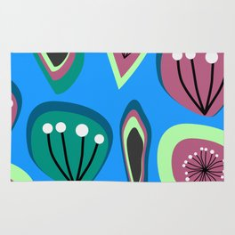 Flowers and seeds- abstract Rug