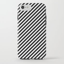Classic Stripes Black + White iPhone Case