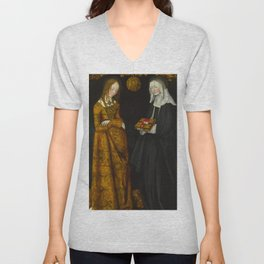 "Lucas Cranach the Elder ""Saints Christina and Ottilia"" Unisex V-Neck"