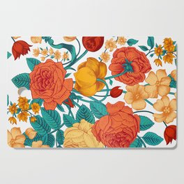 Vintage flower garden Cutting Board