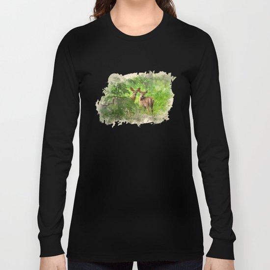 Watercolor Deer Long Sleeve T-shirt
