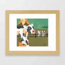 Cow Family Framed Art Print