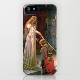 The Accolade by Edmund Blair Leighton, Young Queen, Monarch iPhone Case