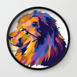 Wild Lion Wall Clock