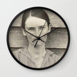 Allie Mae Burroughs by Walker Evans Wall Clock