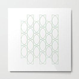 #142 Forty-two semicircles – Geometry Daily Metal Print