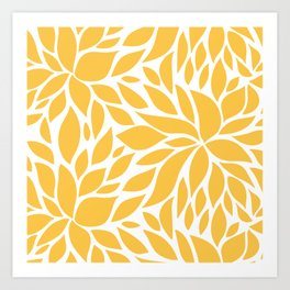 Bloom - Butterscotch Art Print