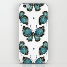 Colorful Butterflies and Flowers V4 iPhone Skin