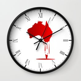 Australia Melting Down Wall Clock