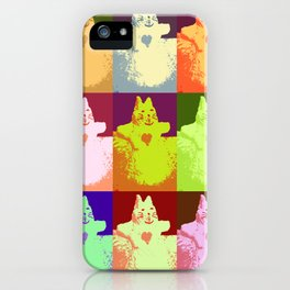 Pop Art Snow Kitty iPhone Case