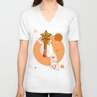 venus V-neck T-shirts featuring Venus by scoobtoobins