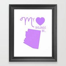 My Heart Belongs in Arizona Framed Art Print