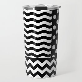 Mixed Patterns (Horizontal Stripes/Polka Dots/Wavy Stripes/Chevron/Checker) Travel Mug